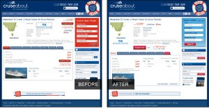 Cruiseabout product page before and after
