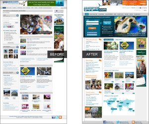 Gapyear.com before and after