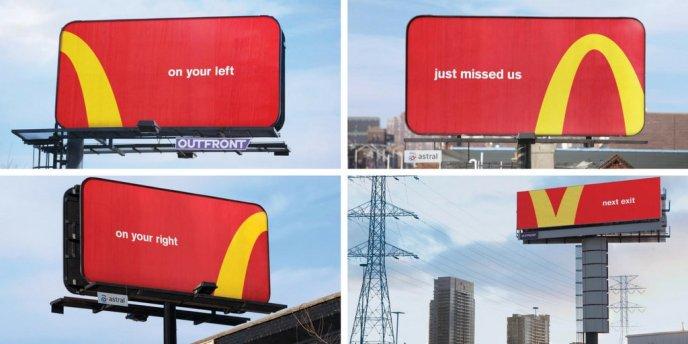 McDonald's golden arches advert