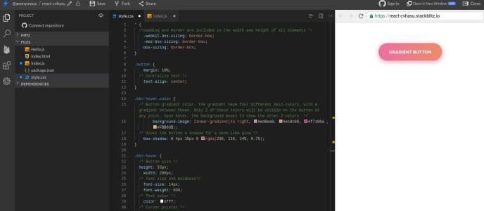 StackBlitz coding playground