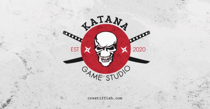 Katana Game Studio emblem logo design