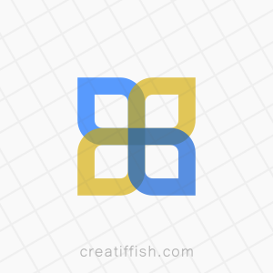 Abstract four square minimal logo