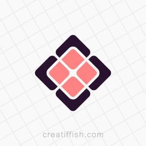 Abstract square minimal logo