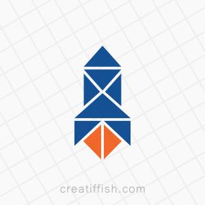 Rocket takeoff space startup accelerator logo
