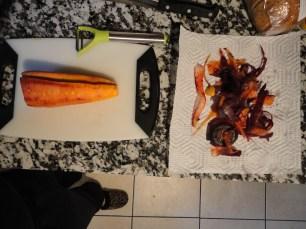 Peel the carrots