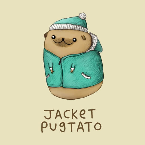 Meet Artists Making Passive Income with Art: Jacket Pugtato by Sophie Corrigan