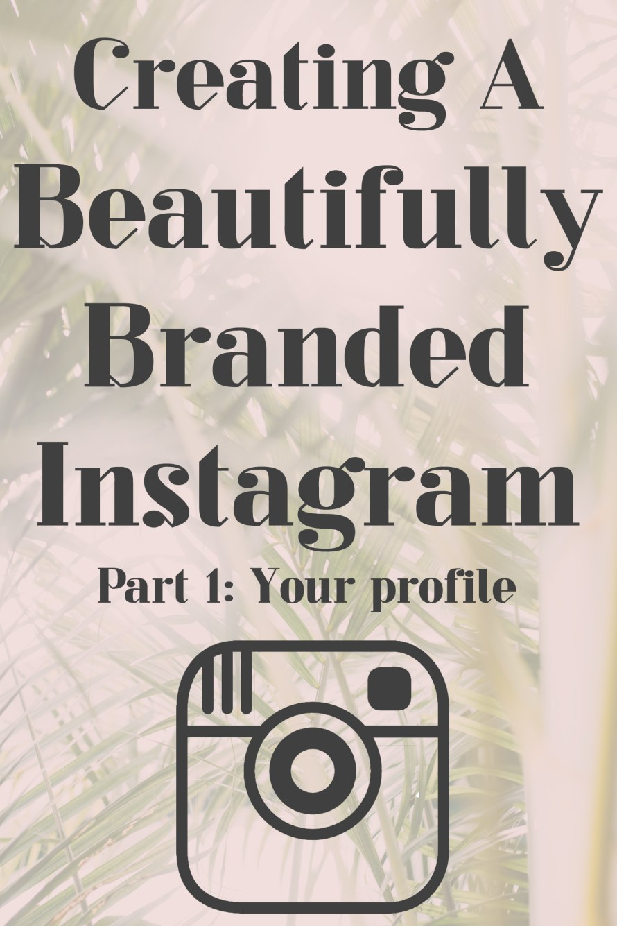 Check out this class: Creating a Beautifully Branded Instagram Your Profile