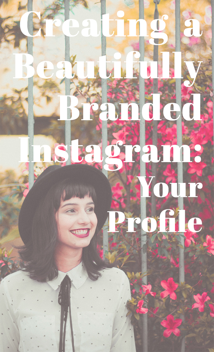 Oooh! This is helpful! I just revamped my bio! Creating a Beautifully Branded Instagram Your Profile