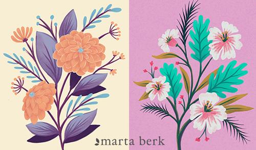 FREE CLASS: Digital Florals : Painting in iPad Procreate by Marta Berk