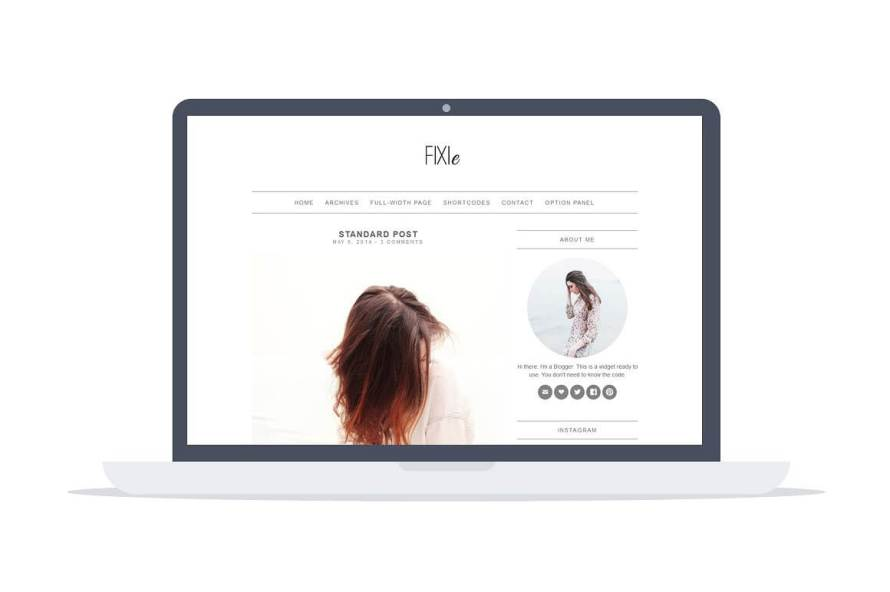 50 Modern, Minimal, Feminine WordPress Blog Themes: FIXIe