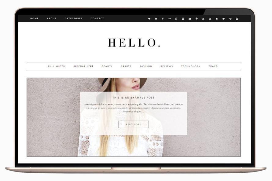 50 Modern, Minimal, Feminine WordPress Blog Themes: Hello