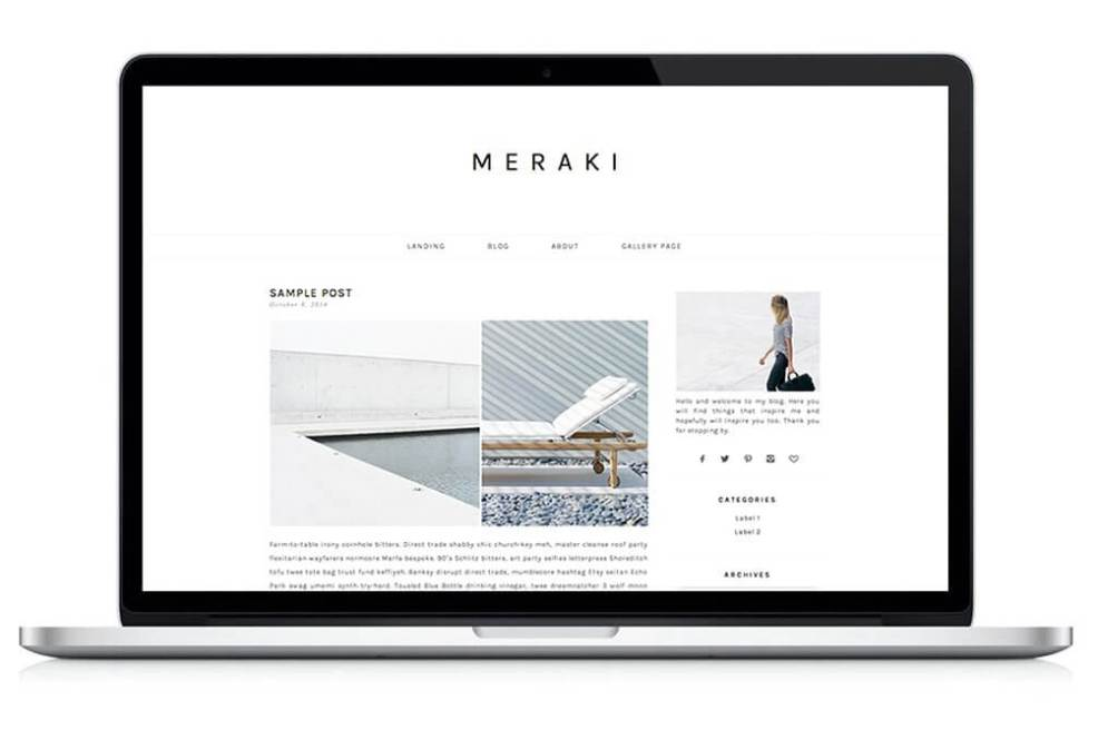 50 Modern, Minimal, Feminine WordPress Blog Themes: Meraki