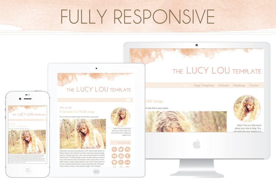 50 Modern, Minimal, Feminine WordPress Blog Themes: The Lucy Lou