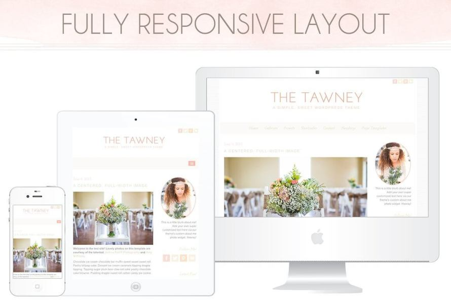 50 Modern, Minimal, Feminine WordPress Blog Themes: The Tawney