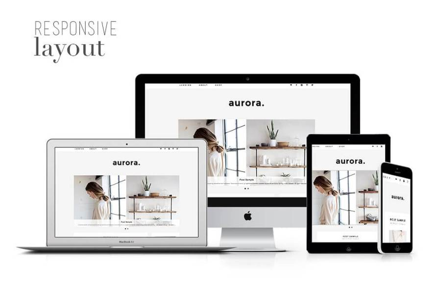 50 Modern, Minimal, Feminine WordPress Blog Themes: Aurora