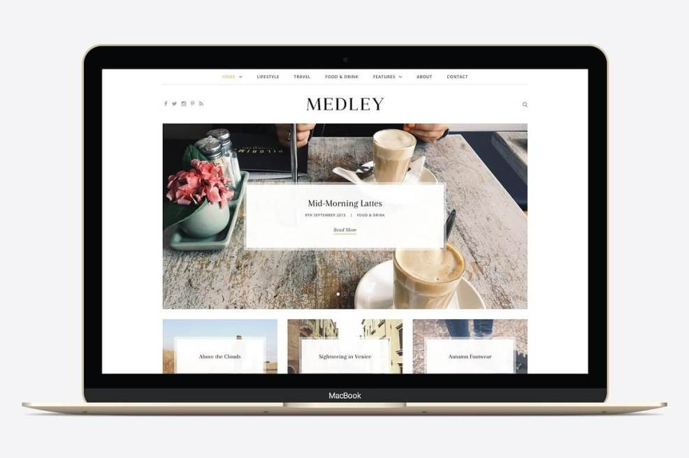 50 Modern, Minimal, Feminine WordPress Blog Themes: Medley