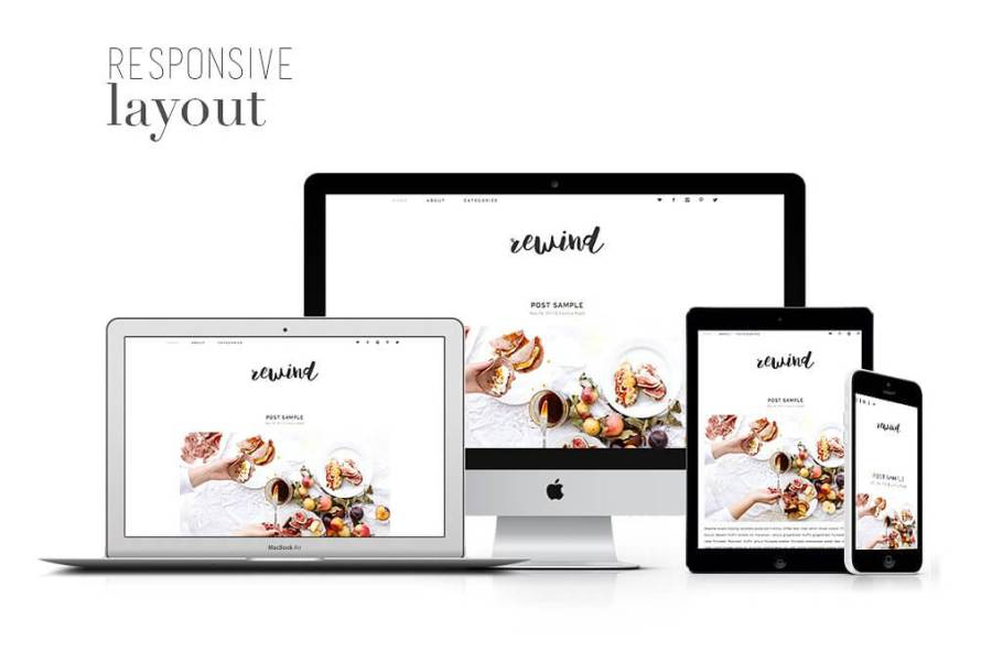 50 Modern, Minimal, Feminine WordPress Blog Themes: Rewind