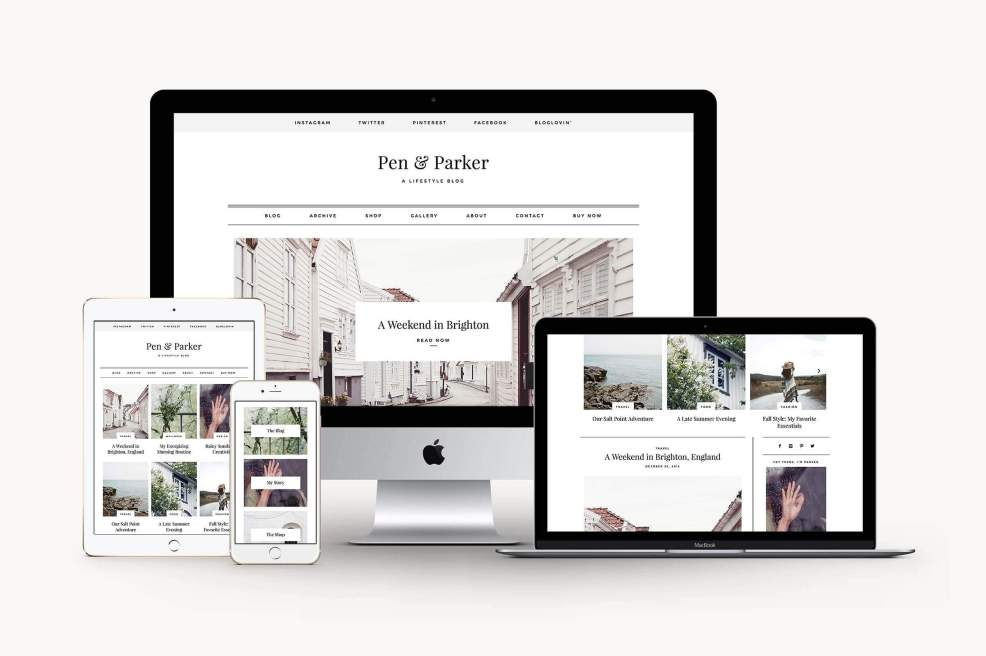 50 Modern, Minimal, Feminine WordPress Blog Themes: Parker