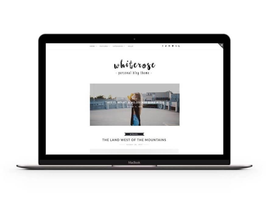 50 Modern, Minimal, Feminine WordPress Blog Themes: Z-White