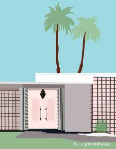 How I Create Art and Designs to Sell Passively: My Digital Paintings. (Palm Springs by Jules Tillman)