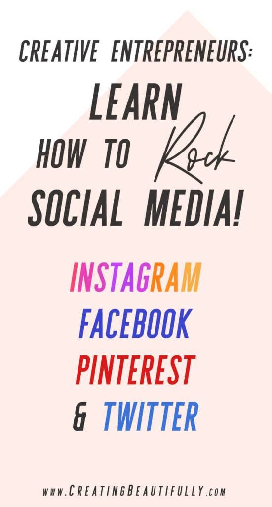 Creative Entrepreneurs, Learn How to Rock Social Media! I love how this article shows me how to choose my social media platforms, how to effectively post on each, and how to streamline social media so it doesn't become a huge time suck!