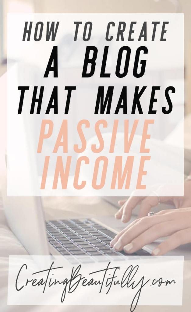 This tutorial is sooo thorough and helpful! How to Start a Blog That Makes Passive Income on CreatingBeautifully.com