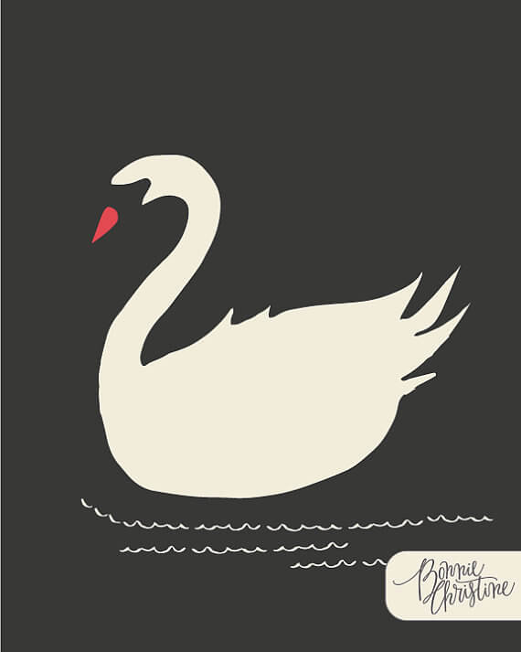 """I love this Artsy Etsy Gift Guide, including this Nightfall Swanling Print from """"Hello, Ollie"""" by SweetBonnieChristine!"""