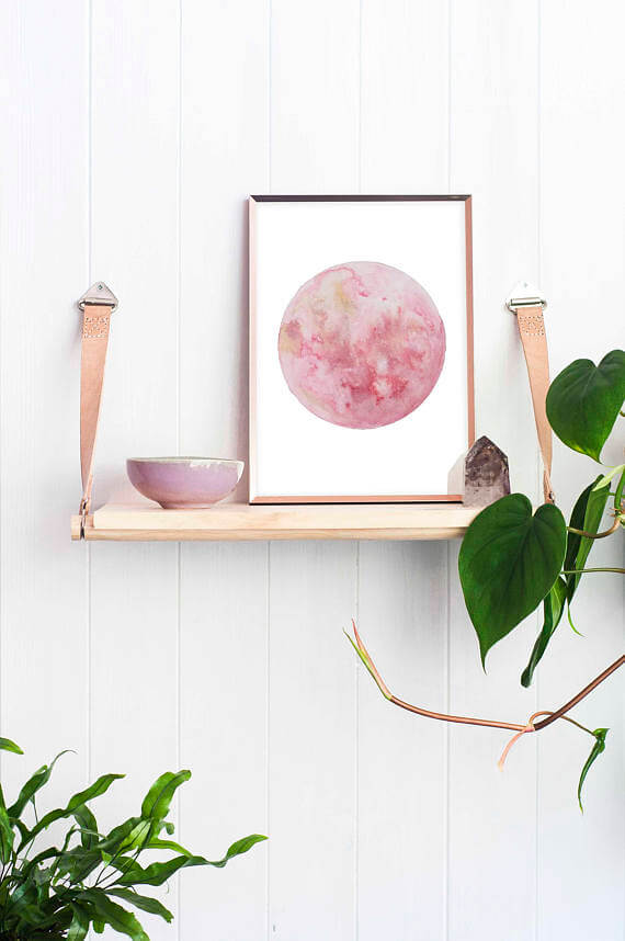 Check out this ArtsyEtsy Gift Guide, including this Strawberry Moon Watercolour Illustration Art Print by Elle Sorridente!
