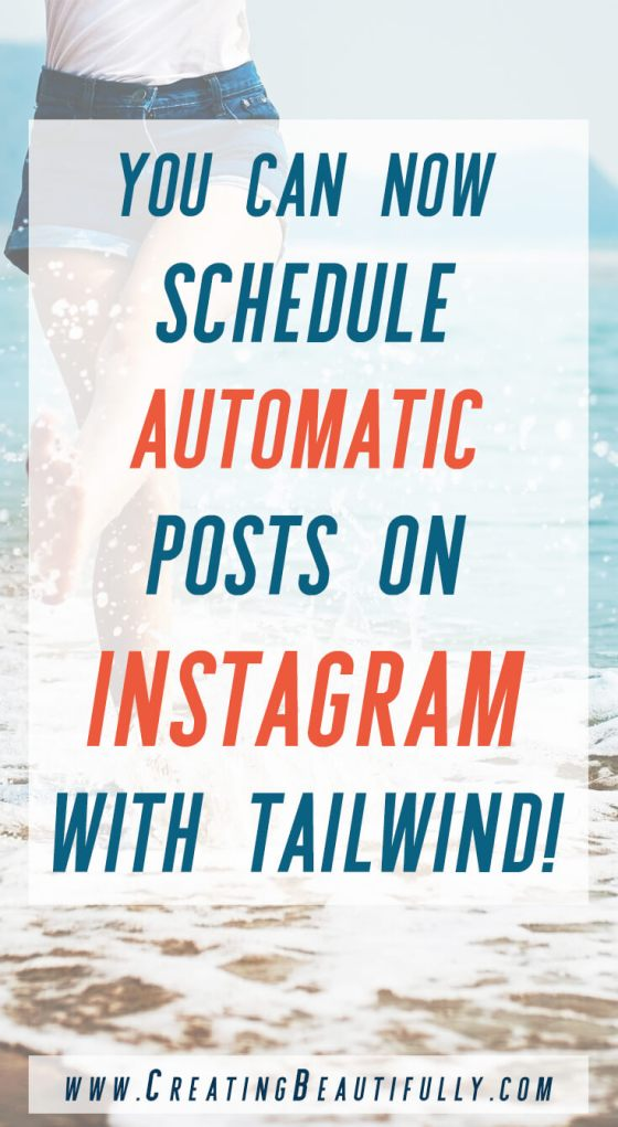 Have you heard the GREAT news?! You can now Schedule Automatic Posts on Instagram with Tailwind!