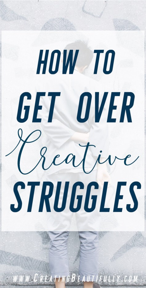 These are some things that I'm convinced that every creative has struggled with, in one form or another, at some point in their endeavors. More importantly, here's how to get over creative struggles.