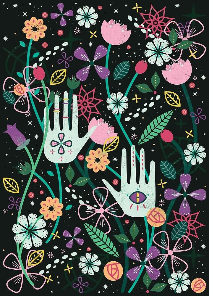 Botanical Hands by Carly Watts - Artists Making Passive Income on RedBubble: Meet Carly Watts on CreatingBeautifully.com