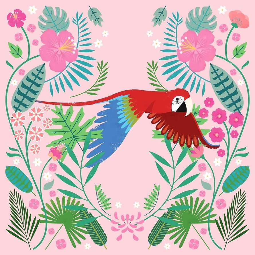 Parrot by Carly Watts - Artists Making Passive Income on RedBubble: Meet Carly Watts on CreatingBeautifully.com