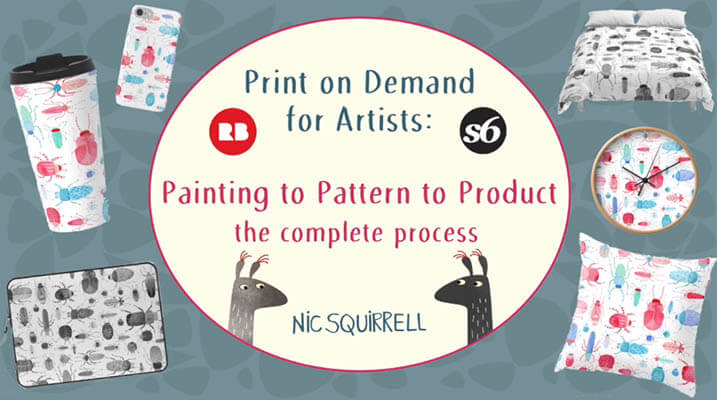 20+ Creative Business Classes You Can Take On Skillshare: Print On Demand for Artists: Painting to Pattern to Product, The Complete Process