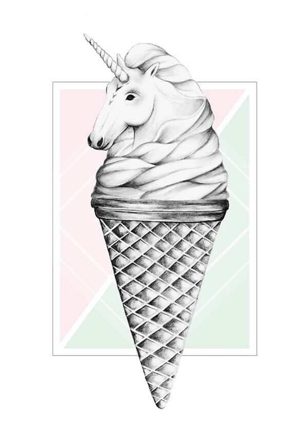 "Selling Art Passively on RedBubble: Meet Barlena. ""Unicone"" by Barlena on RedBubble."