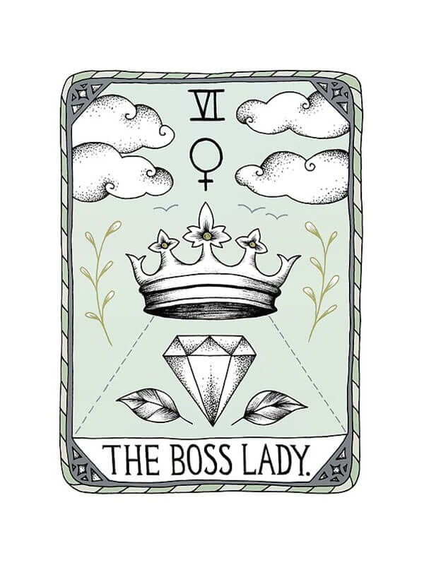 "From the article, Selling Art Passively on RedBubble: Meet Barlena. ""The Boss Lady"" by Barlena on RedBubble."