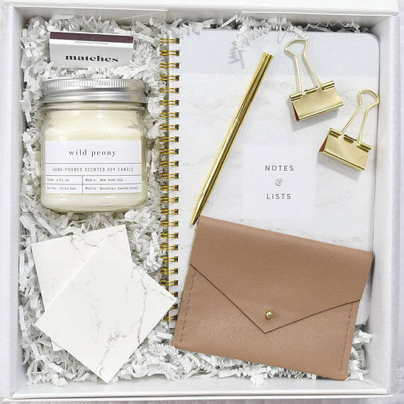 This curated gift box from MEMOBox is part of the Mother's Day Gifts for Mom Bosses from CreatingBeautifully.com