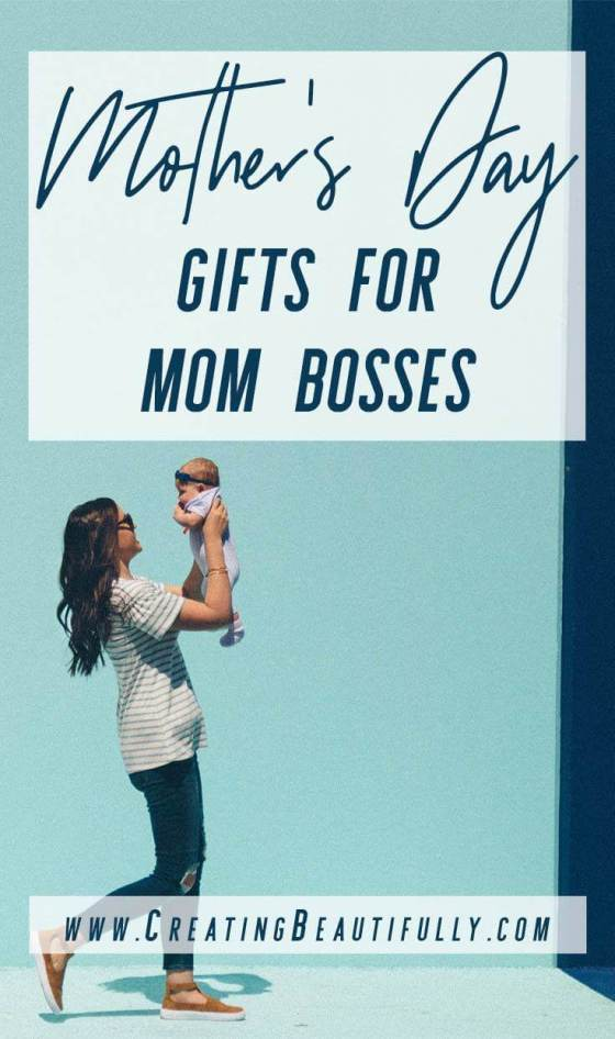 Take a look at these these 13 Mother's Day Gifts for Mom Bosses! Great gift ideas for #MothersDay but really any time you need a gift idea for a #momboss in your life! #momblogger #mombossgiftideas #homeofficeideas #giftsforbosses #giftsforwomenbosses #giftsformom