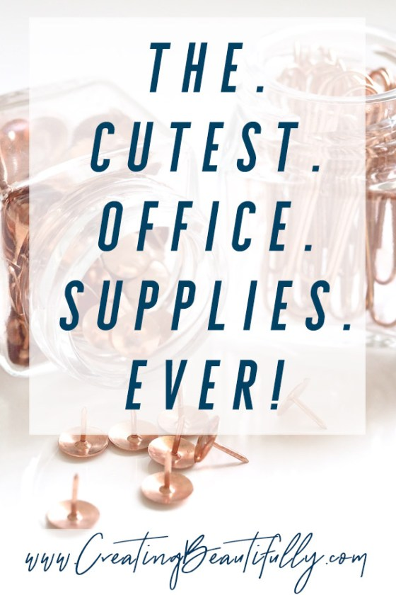Check out this list of some of the Cutest Office Supplies Ever! #CreatingBeautifully #homeoffice #officesupplies #bloggeroffice