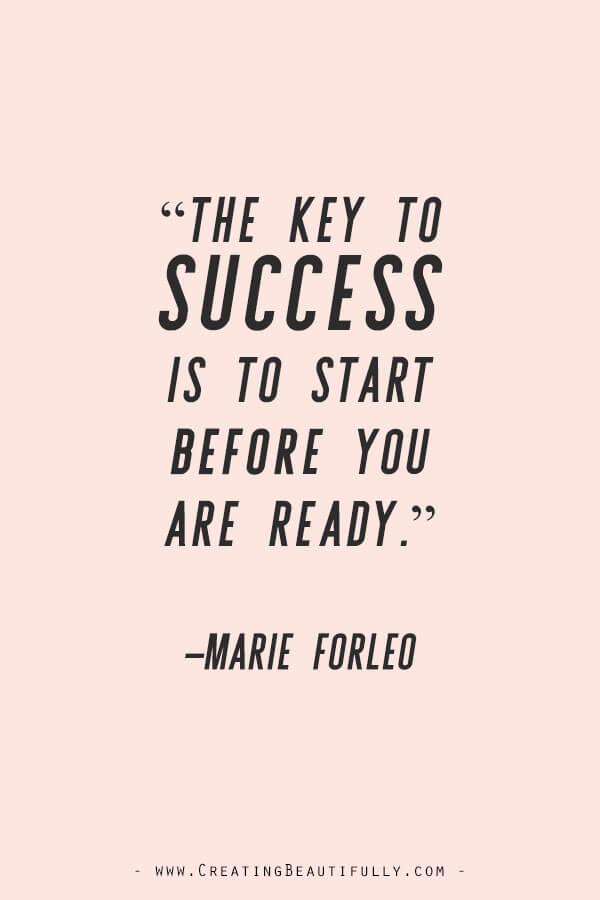 Inspiring Quotes from Powerful Women Entrepreneurs on CreatingBeautifully.com #inspiringquotes #quotesfromwomenentrepreneurs #girlbossquotes #MarieForleo