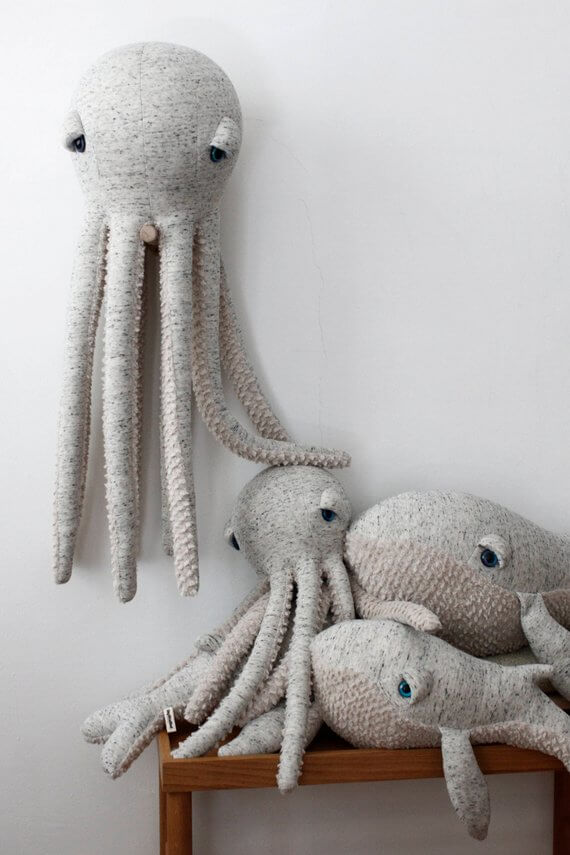Shop Small This Holiday Season: Gift this Big Octopus by BigStuffed on Etsy for over $100. #giftguide #shopsmall #shophandmade