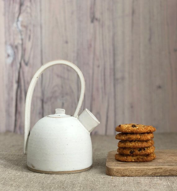 Shop Small This Holiday Season: Gift this handmade ceramic pottery teapot from RebeccaWCeramics on Etsy for under $100! #giftguide #shopsmall #shophandmade