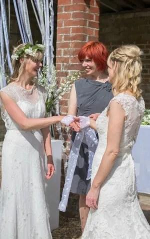 handfasting, Bignor Park, Sussex wedding, same sex wedding