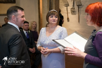 Sarah and Pat's Pangdean Barn wedding Sussex celebrant
