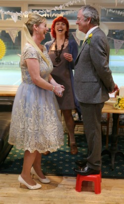 wedding vows laughter celebrant Claire Bradford