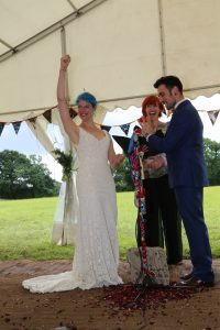 Meghan and Robin festival wedding hooray celebrant Claire Bradford Sussex