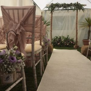 garden marquee flowers wedding