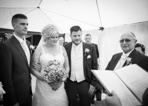 Wedding conducted by Claire Bradford of Creating Ceremony