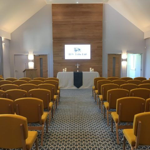 HD Tribe funeral chapel in Shoreham for an unhurried goodbye to a loved one - Claire Bradford celebrant