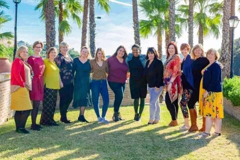 Celebrants attending the Celebrants Collective retreat in Malaga, Spain. Celebrant Sisterhood!