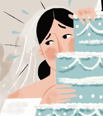 anxious bride illustration by Meredith Jensen